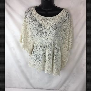 Flying Tomato size L Top Batwing Sleeves lace